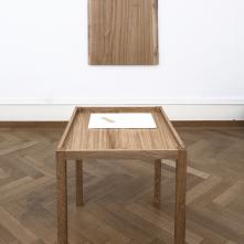 Waxed Oak Table 1, 2017, oak, base: 64 cm × 84 cm × 74.5 cm, top: 124 cm × 84 cm, edition 1/2