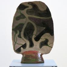 Bonus 13, 2019, Céramique émaillée, transfert, 34 x 47 x 2-10 cm (verso)