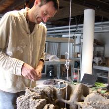 Termitière, work in process, Fondation Bruckner, 2012