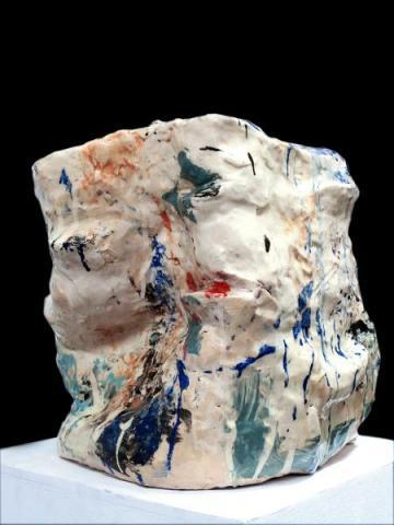 Iceberg, Rainbow Sculpture, grès émaillé, 43x35x38 cm