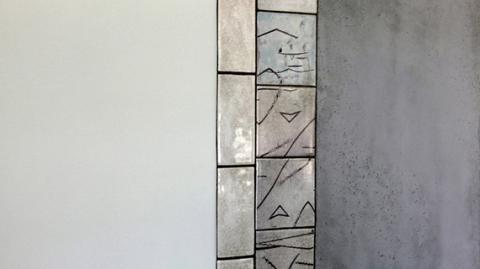 Détail fresque murale pour 3 halls d'entrées – Terre – Eau – Feu