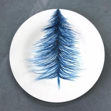 Delft blue on paper (Sapin), porcelaine